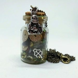 Money/Luck/Protection Enchanted Spell Jar Buddha